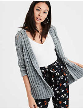 Ae Hooded Cardigan Sweater by American Eagle Outfitters