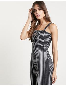 One And Done Striped Jumpsuit by 2020 Ave