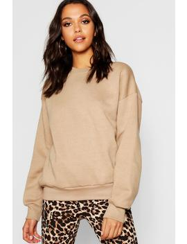 Oversized Basic Crew Neck by Boohoo