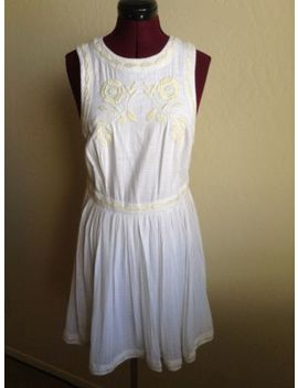 Nwd Free People $128 Birds Of A Feather White/Ivory Embroidered Mini Dress*8 (M) by Free People