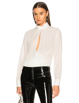 Crepe De Chine Keyhole Blouse by Chloe