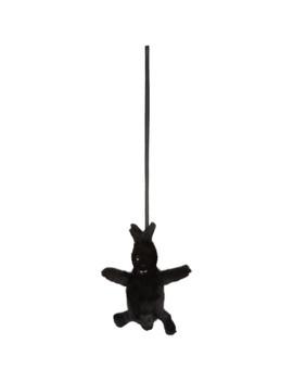 Black Mink Bunny Pouch by Rick Owens