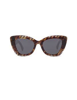 Logo Trim Sunglasses by Fendi
