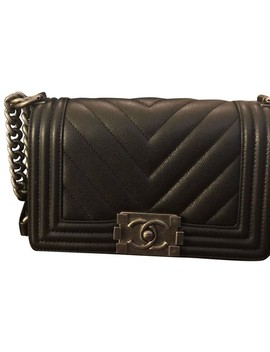 Boy Small Chevron Caviar Cross Body Bag by Chanel