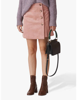 Whistles Cord A Line Button Skirt, Pale Pink by Whistles