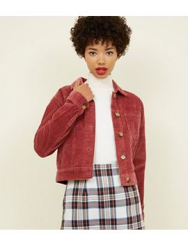 Pink Corduroy Jacket by New Look