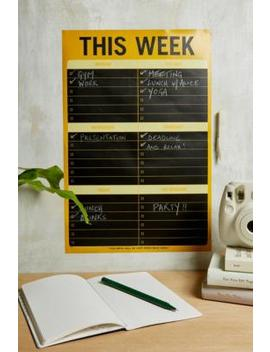 'This Week' Chalkboard Schedule Manager by Urban Outfitters
