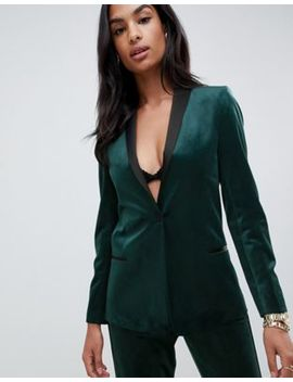Asos Design Tux Blazer In Velvet by Asos Design
