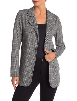 Fitted Knit Patterned Long Blazer by Modern Designer