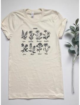 Flower Shirt. Wildflower Shirt. Plant Lady Shirt. Gardening Shirt. Garden Tshirt. Crazy Plant Lady. Adopt A Plant. Flower Shirt. Womens Tees by Etsy