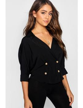 Double Breasted Wrap Shirt by Boohoo