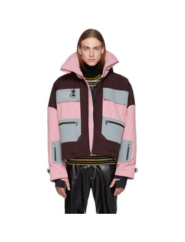 Pink Long Villa Shell Jacket by Colmar A.G.E. By Shayne Oliver