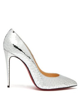 Pigalle 100 Metallic Cracked Leather Pumps by Christian Louboutin