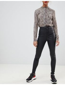 Noisy May Coated Skinny Jeans by Noisy May