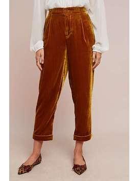 Cuffed Velvet Trousers by Ett:Twa