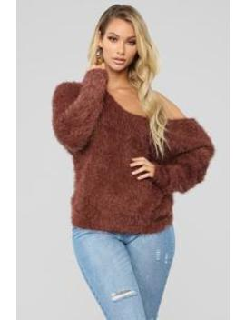 autumn-twist-sweater---mocha by fashion-nova
