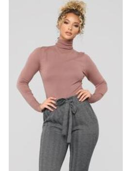 Benson Turtle Neck Sweater   Mauve by Fashion Nova