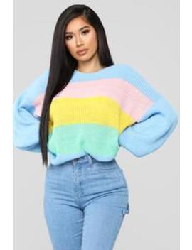 Rewind In Time Sweater   Multi by Fashion Nova