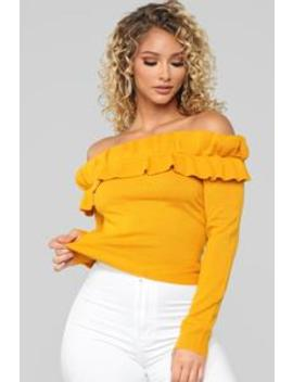 I Don't Believe In Rules Sweater   Mustard by Fashion Nova