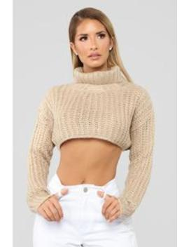 Show Me Dinero Sweater   Taupe by Fashion Nova
