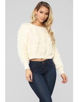 Fringe In Love Sweater   Ivory by Fashion Nova