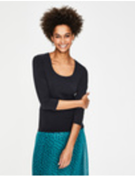 Double Layer Front Tee by Boden