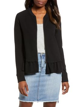 Ruffle Hem Knit Jacket by Caslon®