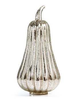 Led Tall Glass Pumpkin by Martha Stewart Collection