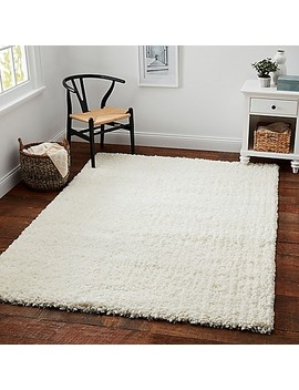 Carpet Art Deco Universal Microfiber Shag Rug In White by Bed Bath And Beyond