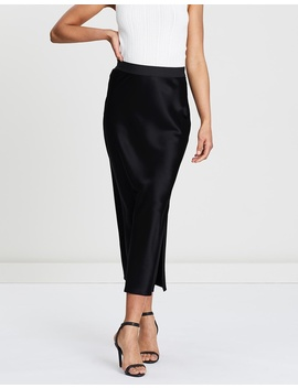 Maxi Sateen Slip Skirt by Theory