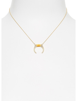 Reversed Horn Pendant Necklace by Simons