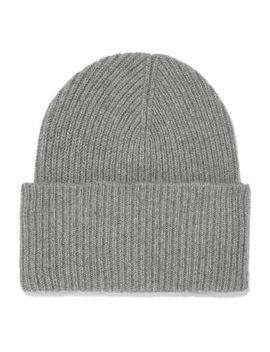 Sandra Ribbed Wool And Cashmere Blend Beanie by Iris & Ink