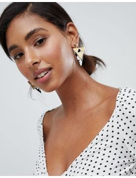 Glamorous Gold Mono Resin Earrings by Glamorous