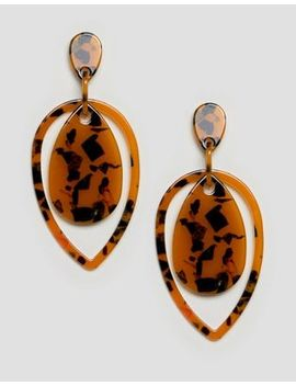 Boohoo Tear Drop Earrings In Tortoiseshell by Boohoo