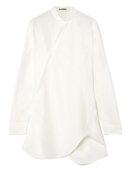 Asymmetric Satin Shirt by Jil Sander