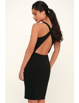 Count The Stars Black Backless Bodycon Dress by Lulus
