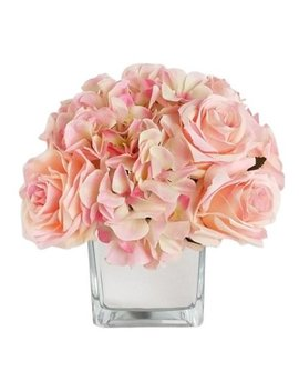 Rg Style Artificial Silk Mixed Floral Arrangements In Decorative Vase by Rg Style