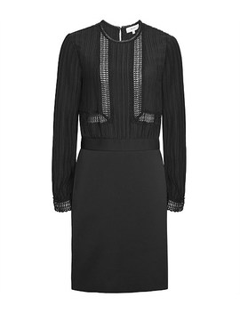 Bruna Lace Top Detail Dress by Reiss