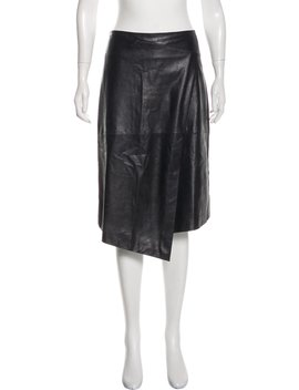 Leather Knee Length Skirt by Brunello Cucinelli