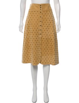 Leather Knee Length Skirt W/ Tags by Lanvin