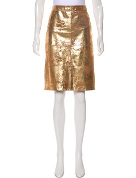 Knee Length Leather Skirt by Tory Burch