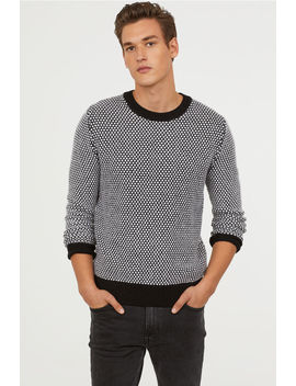 Textured Knit Wool Sweater by H&M