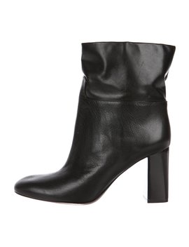 Leather Round Toe Ankle Boots by Tory Burch