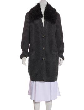 Wool Fur Trimmed Caridgan W/ Tags by Tory Burch
