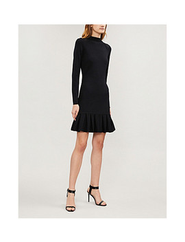 Lace Insert Knitted Dress by Karen Millen