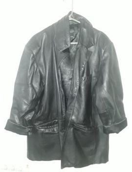 Black Faux Leather Jacket Oversized Xl Unisex by Ebay Seller