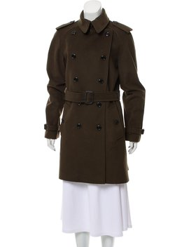 Double Breasted Wool Cashmere Coat by Burberry