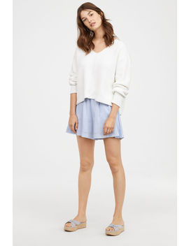 Pullover Cotone Con Scollo A V by H&M