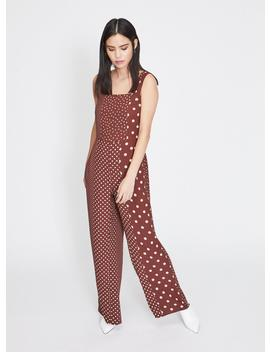 Chocolate Spotted Pinafore Jumpsuit by Miss Selfridge