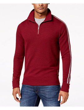 Men's Quarter Zip Waffle Knit Pullover by Michael Kors